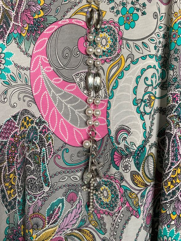 SWEET SUMMERTIME PAISLEY PRINT DRESS IN MULTI-COLOR