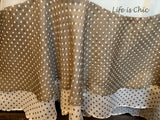 SWEET DELIGHTFUL FAB POLKA DOT TOP IN BEIGE-MOCHA