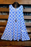 CITY OF LOVE DRESS IN BLUE & WHITE ----SIZE (16-20) -----sale