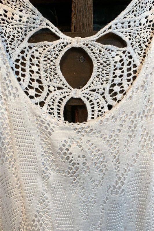 DESERT VICTORIAN WHITE LACE CROCHET DRESS