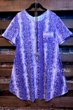 LET YOUR LIGHT SHINE ANIMAL PRINT DRESS IN PURPLE ------sale