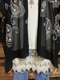 LOVE FOR PAISLEYS EMBROIDERED CHIFFON LIGHTWEIHT IN BLACK