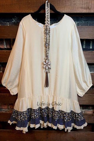 AN ENCHANTING EVENING WITH CHARMING & STYLE LACE DRESS IN BEIGE