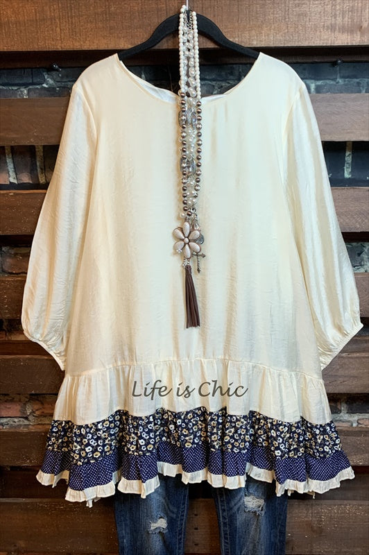 ALWAYS BE ADORABLE TUNIC IN BEIGE 2X -------sale