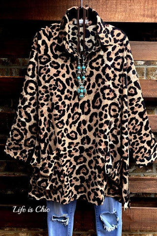 LOVE YOUR WILD SIDE SWEATER TUNIC IN MULTI-COLOR