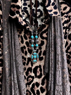 FAB LEOPARD PRINT TUNIC WITH PATCHED POCKETS [product vendor] - Life is Chic Boutique