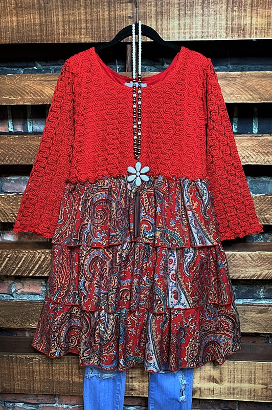 A PIECE OF MY HEART BABYDOLL DRESS IN CRIMSON