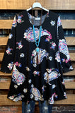PAISLEY DREAM DRESS IN BLACK MIX---------sale
