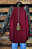 TAKE ME TO DANCE TONIGHT METALLIC SEQUIN IN BURGUNDY