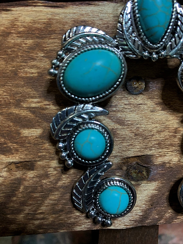 WESTERN SOUL TURQUOISE SET NECKLACE