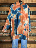 Hopeful Days Tie Dye Hoodies T-Tunic in Multi-Color