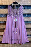 PASSION AND LACE DRESS LAYERING IN ANTIQUE LAVENDER-------------SALE