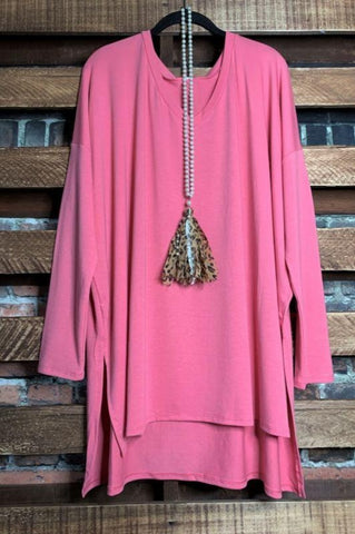 PRETTY PASSION BURGUNDY  &  MULTI-COLOR SWEATER TUNIC 1X 2X 3X