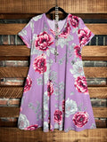 EARLY MORNING FLORAL DRESS IN LAVENDER MIX