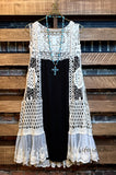 DREAMS OF YOU LACE DRESS STYLISH IN BLACK & IVORY SIZE 6-24