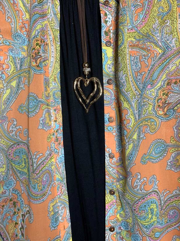 Bring You Joy Paisley Long SHIRT TUNIC IN MULTI-COLOR