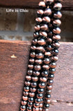 FALLOW YOUR HEART RUSTIC LAYERED MIX BEAD NECKLACE