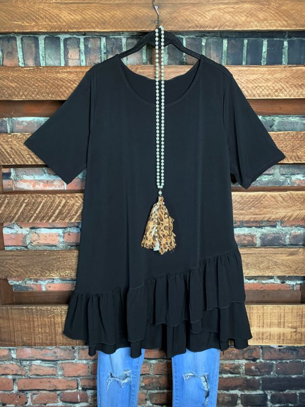 DREAMING IN DETAILS  STYLISH TOP IN BLACK