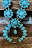 SANTA FE SKY NECKLACE MATCHING EARRINGS IN TURQUOISE & COPPER