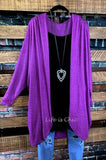 ESSENTIAL ULTRA SOFT OVERSIZED CARDIGAN IN MAGENTA