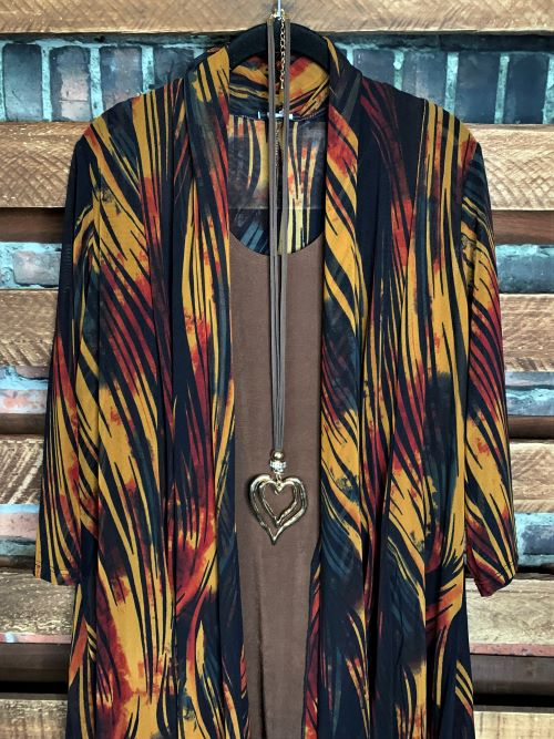 RUSTIC WOOD MULTI-COLOR MESH CARDIGAN-------------sale