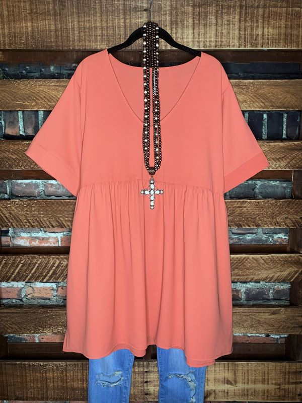 Right About You Comfy Casual Tunic in Ash Rust