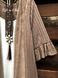 LACE DUSTER CARDIGAN IN BROWN MOCHA 6-8-10-12 SIZE ------------sale