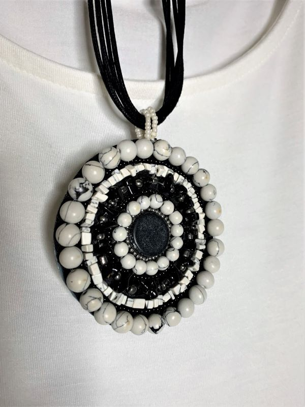 WHITE MOON TALISMAN NATURAL STONE NECKLACE