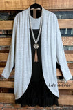 LET'S COZY UP SOFT HACCI OVERSIZED CARDIGAN - GRAY