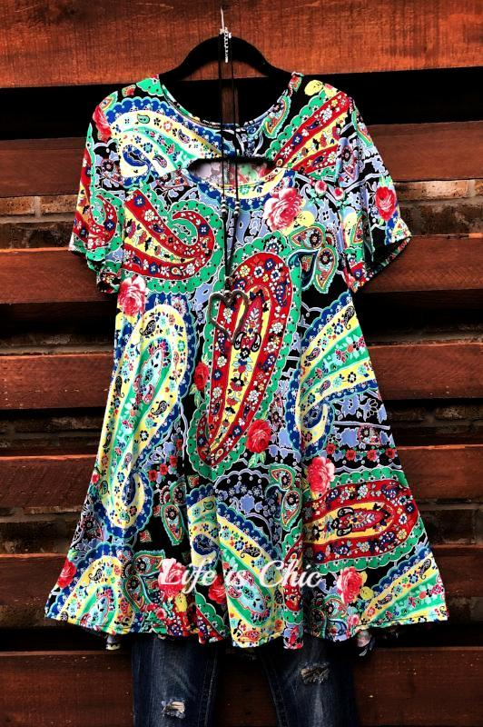 ALL FOR WONDER PAISLEYS TUNIC MULTI-COLOR