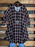 BELIEVE IN DREAMS PLAID TUNIC IN BLACK