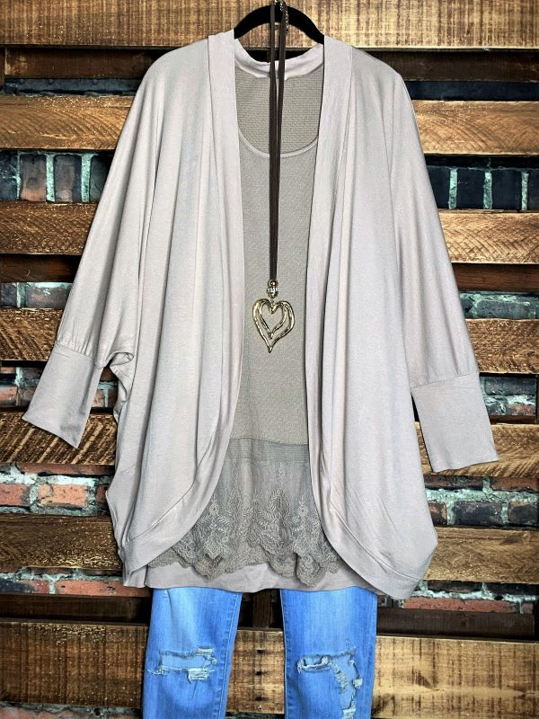THE EVERYDAY CASUAL CARDIGAN IN TAUPE