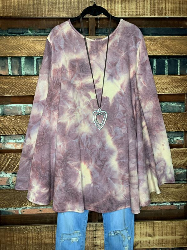 WISHING FOR THE BEST TIE DYE SWEATER TOP IN MULTI COLOR 3X 4X 5X
