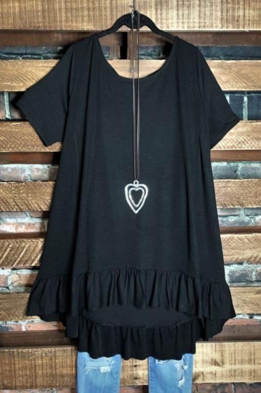 UPTOWN COMFY & CASUAL TUNIC IN BLACK