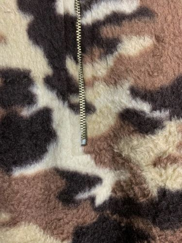 COZY SHERPA POCKETED CAMO SWEATER IN BROWN------------sale