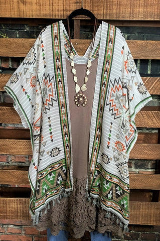 SWEET AS EVER DRESS V-NECK MULTI LAYER IN BEIGE & SPICE PUMPKIN