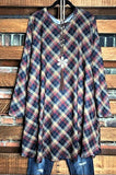 PLAID WITH YOUR HEART DRESS IN MULTI-COLOR