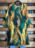 Your Piece of Paradise Dress in Multi-Color 1X 2X 3X