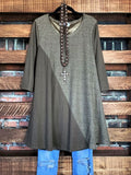 RUSTIC BEAUTY TUNIC IN MOCHA-----------sale