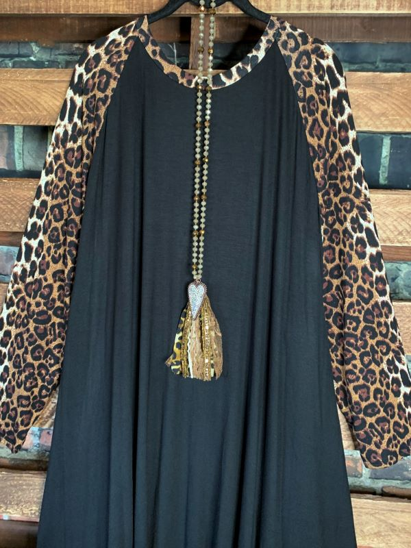 GOTTA GET GOING DRESS IN LEOPARD & BLACK 3X 4X 5X