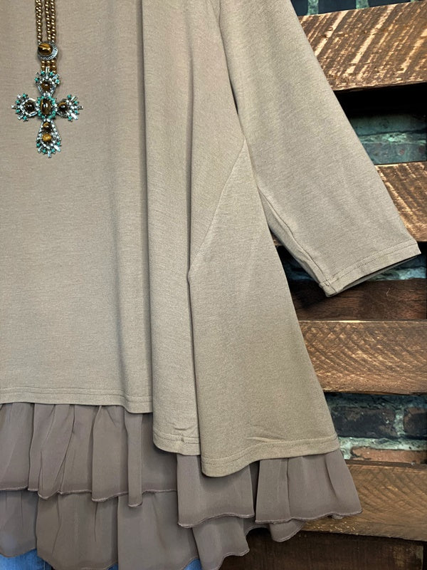 So Perfectly Yours Taupe Tunic