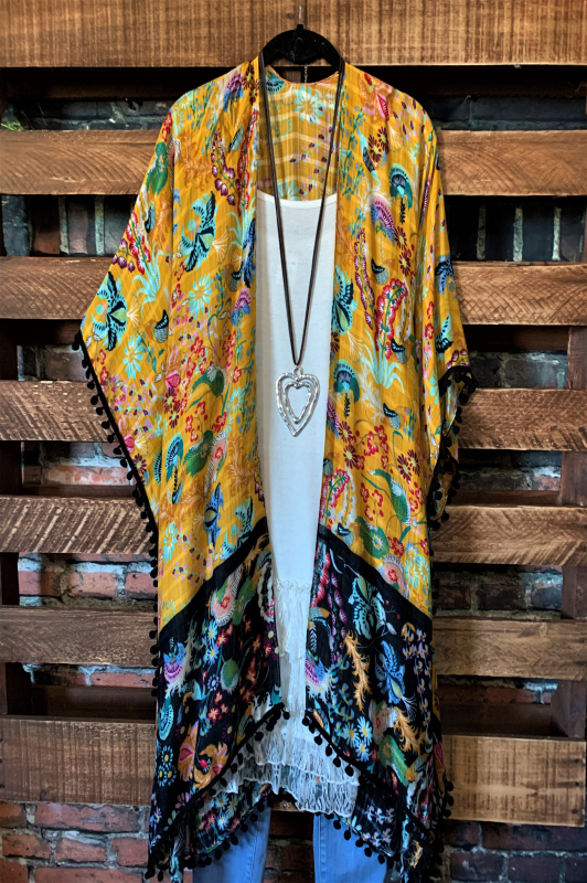 FIESTA BALI LIGHTWEIGHT KIMONO IN MULTI-COLOR