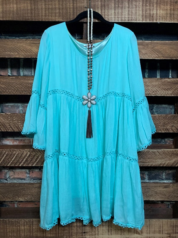 ALL THE PRETTY THINGS LACE TRIM PEASANT BABYDOLL IN MINT------sale