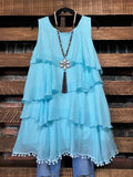 aqua dress plus size regular size