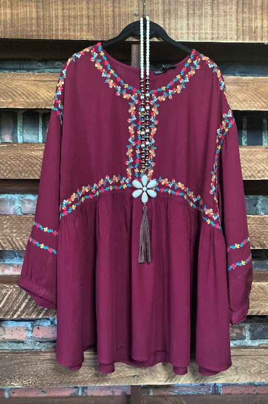 boho empire waist top plus size