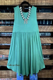 WEEKEND GETAWAY CASUAL DRESS IN SAGE 14-24