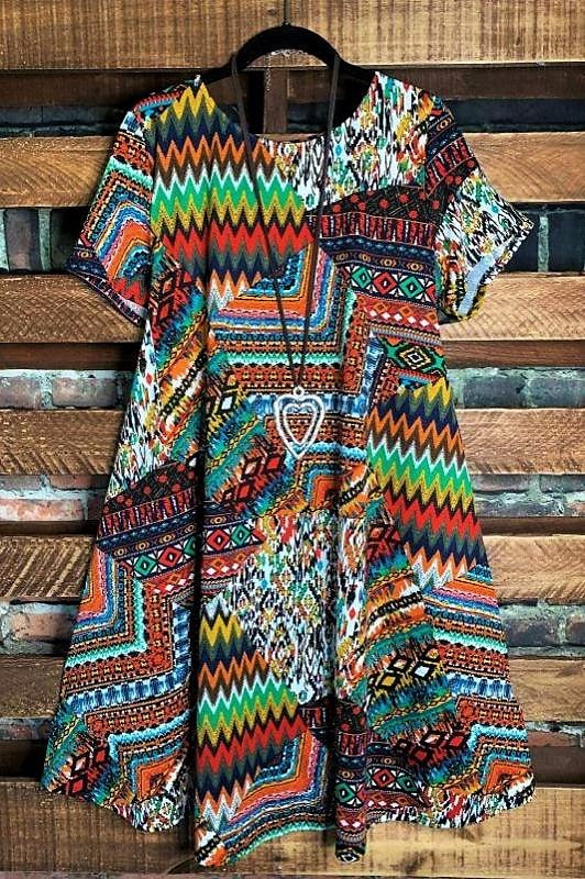 COLORS OF THE WIND DRESS IN MULTI-COLOR