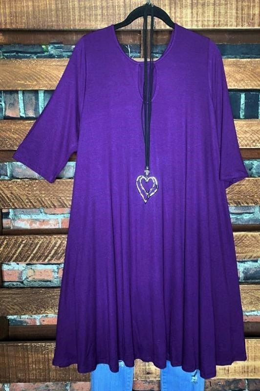 ADORABLY YOURS DRESS CASUAL IN PLUM