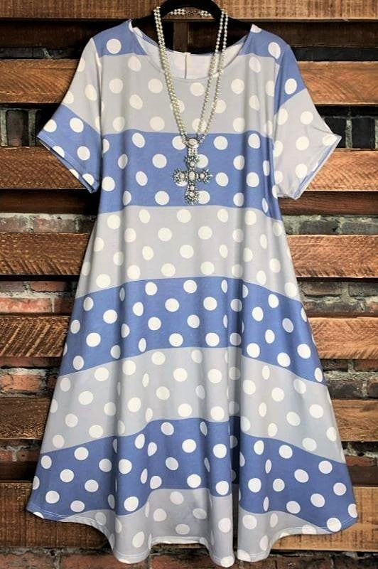 polka dot dress plus size