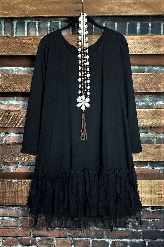 You and Me Could Write a Good Romance Lace Top in Black